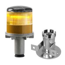 Buy Solar Powered LED Yellow Strobe Lights on sale online