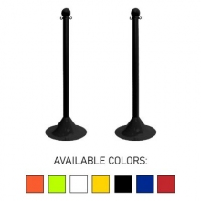 "Traffic Control Light Duty 41"" Plastic Stanchion Post (Pack of 2)"