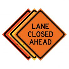 """Buy 36"""" x 36"""" Roll Up Traffic Sign - Lane Closed Ahead on sale online"""