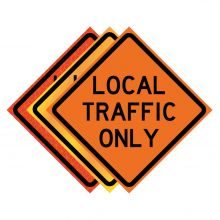 """Buy 36"""" x 36"""" Roll Up Traffic Sign - Local Traffic Only on sale online"""