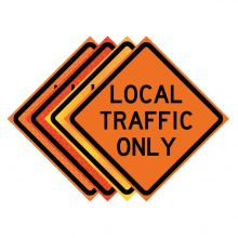 "Buy 36"" x 36"" Roll Up Traffic Sign - Local Traffic Only on sale online"