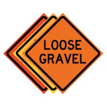 """Buy 36"""" x 36"""" Roll Up Traffic Sign - Loose Gravel on sale online"""