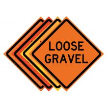 "Buy 36"" x 36"" Roll Up Traffic Sign - Loose Gravel on sale online"