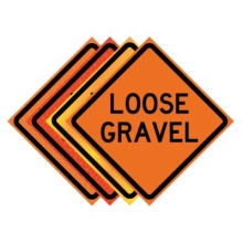 "36"" x 36"" Roll Up Traffic Sign - Loose Gravel"