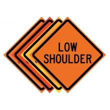 """Buy 36"""" x 36"""" Roll Up Traffic Sign - Low Shoulder on sale online"""