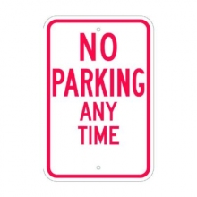Official MUTCD No Parking Any Time Traffic Sign 12x18