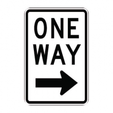 Official MUTCD One Way Traffic Sign (RIGHT ARROW)