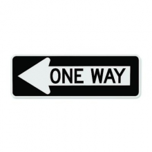 Official MUTCD One Way Sign (LEFT ARROW)