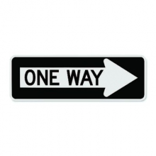 Official MUTCD One Way Sign (RIGHT ARROW)
