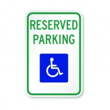 Official MUTCD Reserved Parking ADA Traffic Sign 12x18