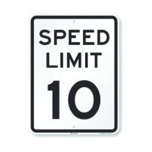 Official MUTCD Speed Limit 10 Traffic Sign