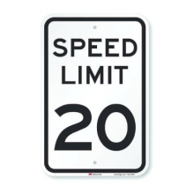 Official MUTCD Speed Limit 20 Traffic Sign