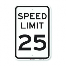 Official MUTCD Speed Limit 25 Traffic Sign