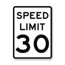 Official MUTCD Speed Limit 30 Traffic Sign