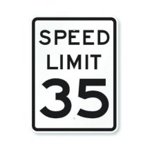 Official MUTCD Speed Limit 35 Traffic Sign