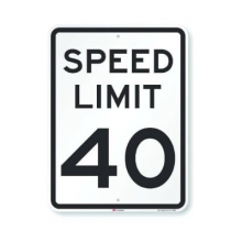 Official MUTCD Speed Limit 40 Traffic Sign