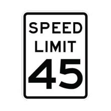 Official MUTCD Speed Limit 45 Traffic Sign