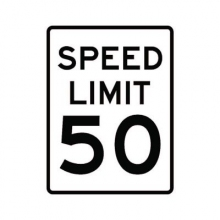 Official MUTCD Speed Limit 50 Traffic Sign