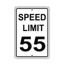 Official MUTCD Speed Limit 55 Traffic Sign