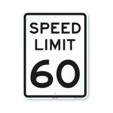 Official MUTCD Speed Limit 60 Traffic Sign
