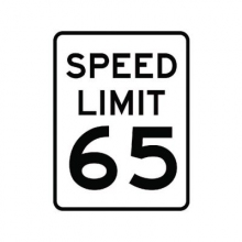 Official MUTCD Speed Limit 65 Traffic Sign