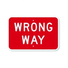 Official MUTCD Wrong Way Sign