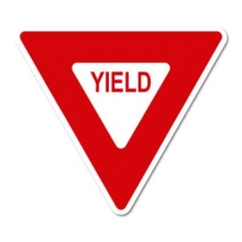 Official MUTCD Yield Sign