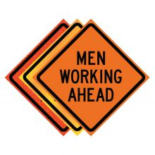"""Buy 36"""" x 36"""" Roll Up Traffic Sign - Men Working Ahead on sale online"""