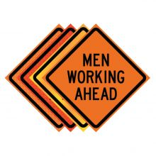 """Buy 48"""" x 48"""" Roll Up Traffic Sign - Men Working Ahead on sale online"""