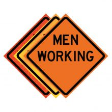 """Buy 36"""" x 36"""" Roll Up Traffic Sign - Men Working on sale online"""