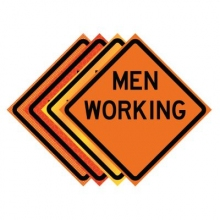 "36"" x 36"" Roll Up Traffic Sign - Men Working"