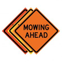 """Buy 36"""" x 36"""" Roll Up Traffic Sign - Mowing Ahead on sale online"""