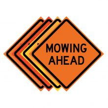 "Buy 36"" x 36"" Roll Up Traffic Sign - Mowing Ahead on sale online"