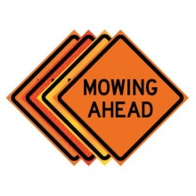 "36"" x 36"" Roll Up Traffic Sign - Mowing Ahead"