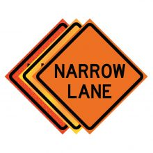 """Buy 36"""" x 36"""" Roll Up Traffic Sign - Narrow Lane on sale online"""