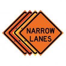 "Buy 36"" x 36"" Roll Up Traffic Sign - Narrow Lanes on sale online"