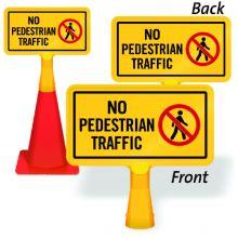 ConeBoss Sign: No Pedestrian Traffic