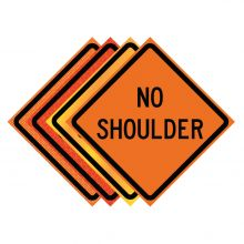 "Buy 36"" x 36"" Roll Up Traffic Sign - No Shoulder on sale online"