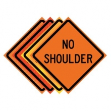 "36"" x 36"" Roll Up Traffic Sign - No Shoulder"