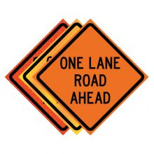"""Buy 36"""" x 36"""" Roll Up Traffic Sign - One Lane Road Ahead on sale online"""