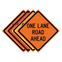 "Buy 36"" x 36"" Roll Up Traffic Sign - One Lane Road Ahead on sale online"