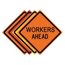 "Buy 36"" x 36"" Roll Up Traffic Sign - Workers Ahead on sale online"