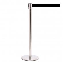 QueuePro 200 Chrome Metal Retractable Belt Post