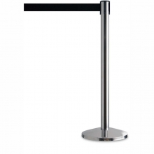 Line Divider Retractable Belt Stanchion - Polished Finish