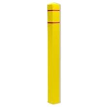 4.5 Inch Square Post Guard Top Bollard Cover w/ Stripes