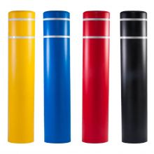"""Buy 12 3/4 Inch 60"""" Post Guard Top Bollard Cover w/ Stripes on sale online"""