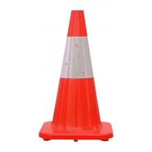 """Premium 18"""" All Orange Cone with 6"""" Reflective Collar"""