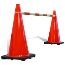 Retractable Cone Bar Orange & White
