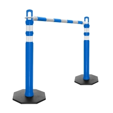 Retractable Delineator Bar Blue & White