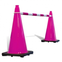 Telescoping Cone Bar Pink & White